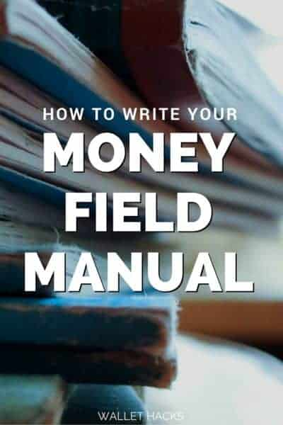 The money field manual is the second document in our financial arsenal - it contains a listing of every account, every point of contact, and acts as a manual to our finances if I can't be there to explain it. You need one too - learn how to write a money field manual.