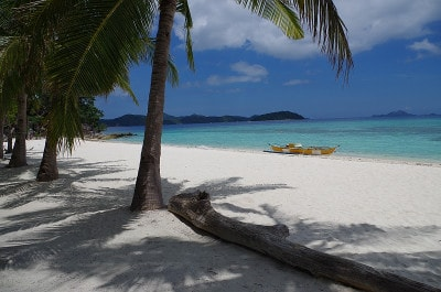 Some unconventional honeymoon destinations offer incredible experiences at hard-to-believe prices. The beaches of the Philippines, including Malcapuya Beach shown here, were some of the nicest we'd ever seen yet the cost of a top-notch hotel in the area was only about $150/night.