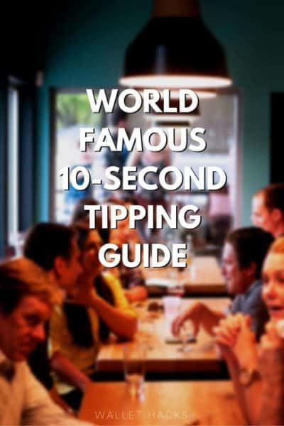 Everyone makes tipping seem so hard. It's really easy and in 10 seconds I can explain it. There's also a longer version in case you wanted to get all fancy.