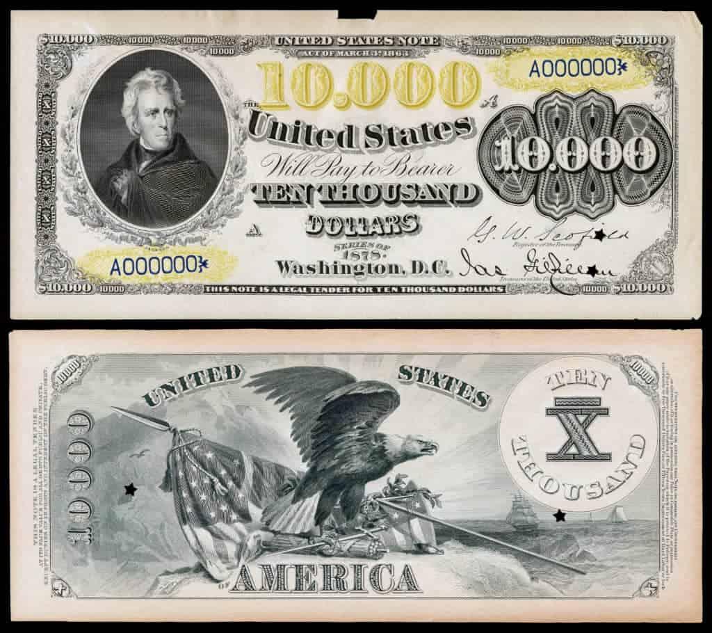 $10,000 Bill - 1878 Andrew Jackson
