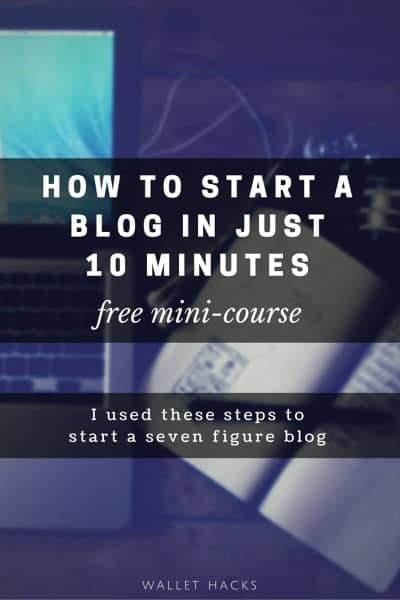 In just five short years, I build a personal finance blog that did six figures in income each year and was sold for $3+ million to a publicly traded company. It all started on a whim, learn the ten-minute step-by-step process in our free mini course.