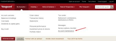 vanguard-account-maintenance