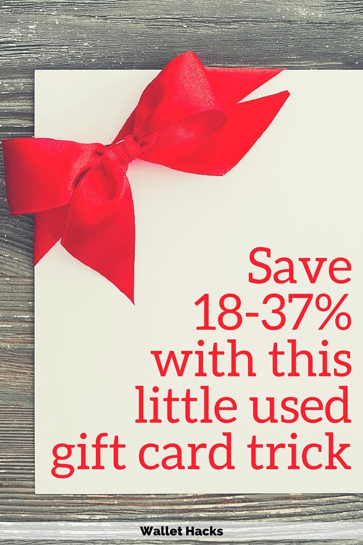 How to save 18 37 on your purchases with a little used gift card how to save 18 37 on your purchases with a little used gift card trick 1betcityfo Gallery