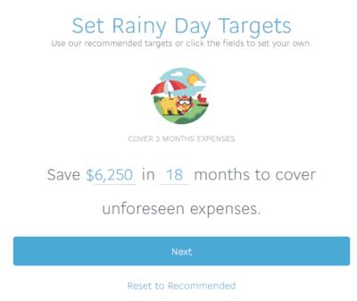 set-rainy-day-targets
