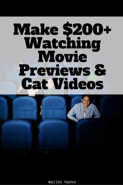 Did you know you can make money watching movie previews in the theater? What about videos online? It's true, learn how!