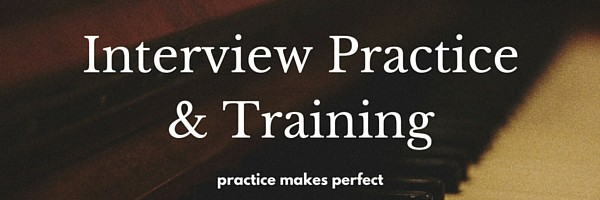 Interview practice and training