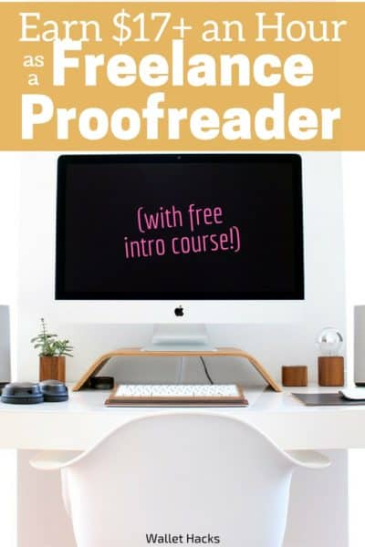 Caitlin Pyle earned over $40,000 a year as a freelance proofreader, check this out if you want to earn a little extra money proofreading including free training.