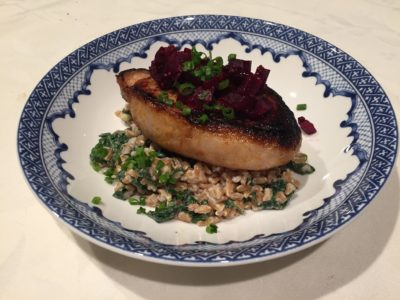 Spiced Pork Chops with Beet & Cranberry Agrodolce