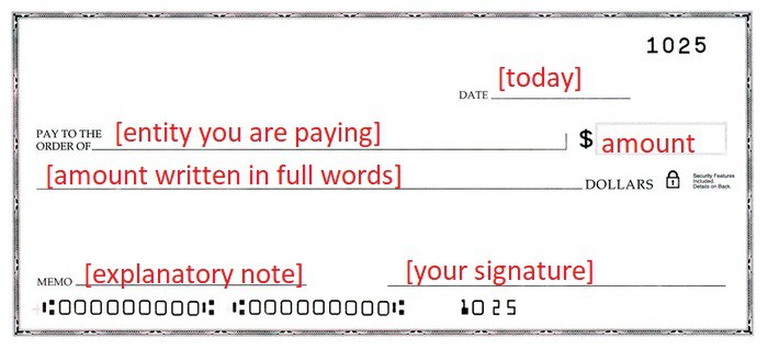 Writing a credit card check to yourself