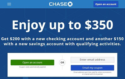 Chase $350 Coupon