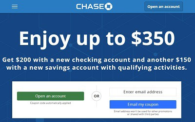 Bank account online chase