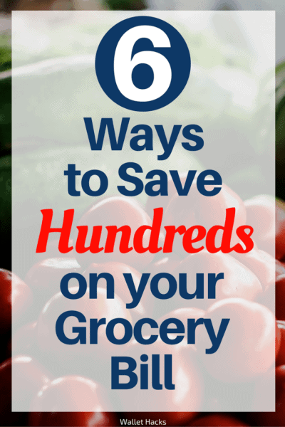 Food is probably one of your biggest expenses each month, see how these six easy ways can help you save hundreds on your monthly supermarket trips!