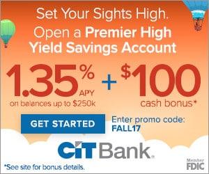 CIT Bank $100 Bonus
