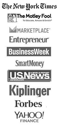 As Seen in The New York Times, The Motley Fool, Entrepreneur, Kiplinger's, Forbes, Yahoo! Finance and more!