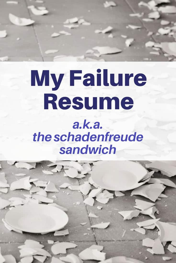 my failure resume  enjoy my laundry list of fantastic failures